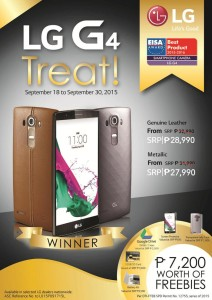 LG G4 treat