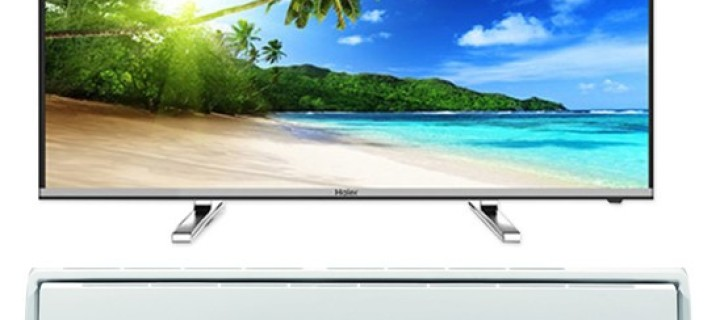 Get the Haier 4K TV and AC for your Home Entertainment Room