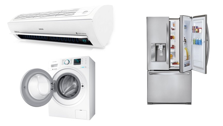 Refrigerators, washing machines and air conditioners