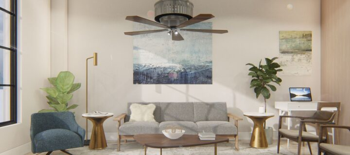 Get ready for retractable air purification ceiling fans
